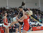 New Zealand&rsquo;s Anna Harrison in action during todays match   <br /> <br /> Swansea University International Netball Test Series: Wales v New Zealand<br /> Ice Arena Wales<br /> 08.02.17<br /> &copy;Ian Cook - Sportingwales