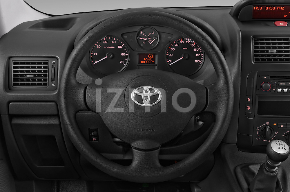 Car pictures of steering wheel view of a 2013 Toyota PROACE COMFORT 5 Door Combi Steering Wheel
