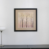 "Preston: Trees At Dawn, Digital Print, Image Dims. 17.75"" x 17.5"", Framed Dims. 26.75"" x 26.75"""