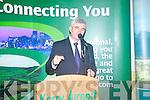 Aer Arann Chairman, Padraig O'Ceidigh, speaking at Kerry Airport at the launch of the Aer Arann Dublin Kerry flights.