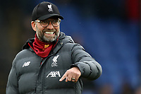 23rd November 2019; Selhurst Park, London, England; English Premier League Football, Crystal Palace versus Liverpool; Liverpool Manager Jurgen Klopp