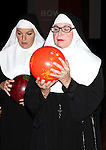 Christine Mild, Cindy Williams performing a preview of 'Nunset Boulevard: The Nunsense Hollywood Bowl Show' at the Bowlmor Lanes Thursday, Sept. 27, 2012 in Times Square, New York.