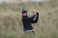 Aaron Blair (Scrabo) on the 13th tee during Round 2 of the Ulster Boys Championship at Portrush Golf Club, Portrush, Co. Antrim on the Valley course on Wednesday 31st Oct 2018.<br /> Picture:  Thos Caffrey / www.golffile.ie<br /> <br /> All photo usage must carry mandatory copyright credit (&copy; Golffile | Thos Caffrey)