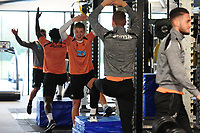 George Byers of Swansea City in the gym during the Swansea City Training at The Fairwood Training Ground on October 16, 2018 in Swansea, Wales, UK. Tuesday 16 October 2018