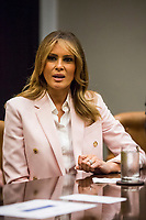 U.S. First Lady Melania Trump speaks during an opioid round table at the White House in Washington, DC, USA, 12 June 2019.<br /> Credit: Zach Gibson / Pool via CNP/AdMedia