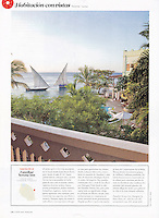 Cond&eacute; Nast Traveler (Spanish edition), November 2012, &quot;Room with a View&quot; feature.<br />
