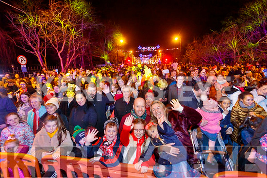 The big crowd at the New year's eve fireworks display in Tralee.