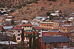 View of the Copper Queen Hotel and the historic mining town of Bisbee, Arizona