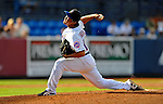 28 February 2011: New York Mets pitcher Ryota Igarashi on the mound against the Washington Nationals at Digital Domain Park in Port St. Lucie, Florida. The Nationals defeated the Mets 9-3 in Grapefruit League action. Mandatory Credit: Ed Wolfstein Photo