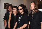 "Eero Heinonen, Aki Hakala, Laurie Ylonen and Pauli Rantasalmi, members of The Rasmus music band, give a press conference as they promote their album ""Hide From The Sun"", April 06, 2006, in Mexico City... Photo by © Javier Rodriguez"