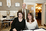 Watertown, CT- 30 March 2017-033017CM10-  From left, Robin Doyle of West Hartford, Johanna Dubauskas of Oakville and deacon George Pettinico of Watertown <br />  are photographed during The St. Vincent DePaul Mission of Waterbury annual banquet at The Grand Oak Villa in Oakville.  Christopher Massa Republican-American