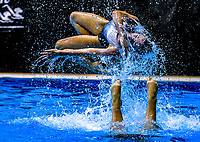 North Harbour Synchro. Day Two of the 2018 North Island Synchronised Swimming Championships at Wellington Regional Aquatics Centre in Wellington, New Zealand on Sunday, 20 May 2018. Photo: Dave Lintott / lintottphoto.co.nz