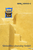 Tom Mackie, LANDSCAPES, LANDSCHAFTEN, PAISAJES, photos,+Blue Chair & Yellow Building, Santorini, Cyclades, Greece,Aegean, Cyclades, EU, Europa, Europe, European, Greece, Greek Islan+ds, Santorini, Tom Mackie, blue, chair, chairs, holiday destination, mediterranean, portrait, tourism, tourist attraction, up+right, vertical, yellow++,GBTM160443-1,#l#, EVERYDAY