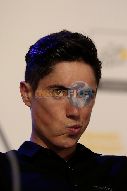 Peter Kennaugh (GBR) Team Sky press conference before the start of the 2015 Tour de France in Utrecht, Netherlands. 3rd July 2015.<br /> Photo: Eoin Clarke www.newsfile.ie