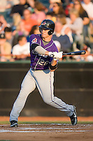 Trevor Crowe (26) of the Akron Aeros takes his swings at Prince Georges Stadium in Bowie, MD, Tuesday June 17, 2008.
