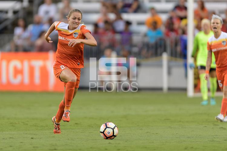 Houston, TX - Saturday July 15, 2017: Cami Privett during a regular season National Women's Soccer League (NWSL) match between the Houston Dash and the Washington Spirit at BBVA Compass Stadium.