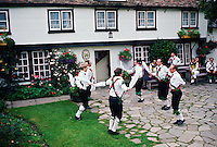 Morris Dancers dancing in Cambridge, England, United Kingdom.