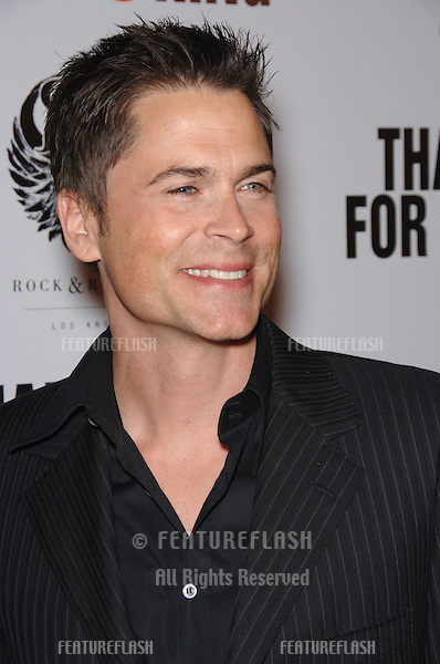 "Actor ROB LOWE at the Los Angeles premiere of his new movie ""Thank You For Smoking""..March 16, 2006  Los Angeles, CA.© 2006 Paul Smith / Featureflash"