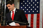 Speaker Paul Ryan of Wisconsin looks over his notes before President Barack Obama's State of the Union address to a joint session of Congress on Capitol Hill in Washington, Tuesday, Jan. 12, 2016. <br /> Credit: Evan Vucci / Pool via CNP