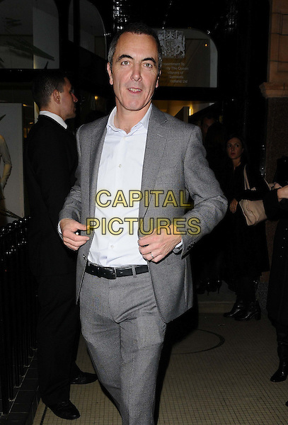James Nesbitt<br /> The Pringle of Scotland new flagship store launch party, Pringle of Scotland, London, England.<br /> September 16th, 2013<br /> half length white shirt grey gray suit <br /> CAP/CAN<br /> &copy;Can Nguyen/Capital Pictures