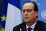 NEWS-France President atend the United Nations General Assembly in New York