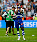 Tyler Blackett of Reading looks dejected during the SkyBet Championship Play Off Final match at the Wembley Stadium, England. Picture date: May 29th, 2017.Picture credit should read: Matt McNulty/Sportimage