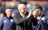 Burnley manager Sean Dyche applauds the fans<br /> <br /> Photographer Rich Linley/CameraSport<br /> <br /> The Premier League - Burnley v Wolverhampton Wanderers - Saturday 30th March 2019 - Turf Moor - Burnley<br /> <br /> World Copyright © 2019 CameraSport. All rights reserved. 43 Linden Ave. Countesthorpe. Leicester. England. LE8 5PG - Tel: +44 (0) 116 277 4147 - admin@camerasport.com - www.camerasport.com