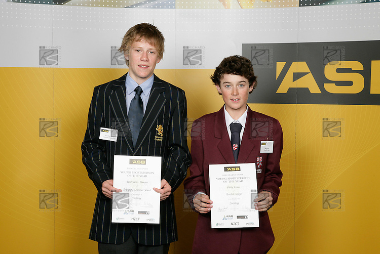 Yachting Boys Finalists. ASB College Sport Young Sportsperson of the Year Awards 2006, held at Eden Park on Thursday 16th of November 2006.<br />