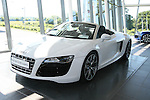 Audi R8 Spider at Western Motors....Photo NEWSFILE/Jenny Matthews.(Photo credit should read Jenny Matthews/NEWSFILE)....This Picture has been sent you under the condtions enclosed by:.Newsfile Ltd..The Studio,.Millmount Abbey,.Drogheda,.Co Meath..Ireland..Tel: +353(0)41-9871240.Fax: +353(0)41-9871260.GSM: +353(0)86-2500958.email: pictures@newsfile.ie.www.newsfile.ie.FTP: 193.120.102.198.