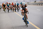 Julien Duval (ALM) (FRA) AG2R La Mondiale tries to get away during Stage 5 of the 10th Tour of Oman 2019, running 152km from Samayil to Jabal Al Akhdhar (Green Mountain), Oman. 20th February 2019.<br /> Picture: ASO/P. Ballet | Cyclefile<br /> All photos usage must carry mandatory copyright credit (&copy; Cyclefile | ASO/P. Ballet)
