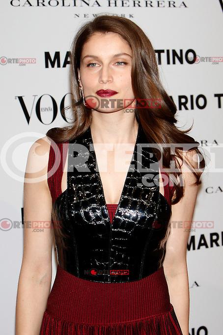 Laetitia Casta attends Vogue and Mario Testino photocall in Madrid. November 27, 2012. (ALTERPHOTOS/Caro Marin) /NortePhoto