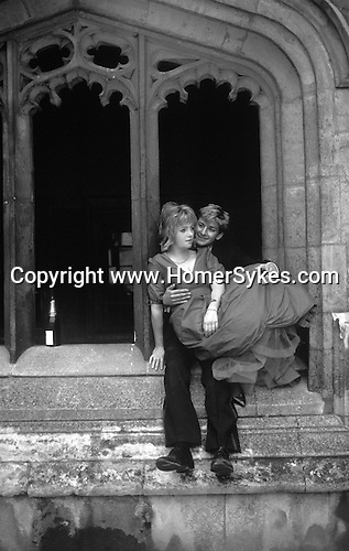 Commem May Ball the morning after Oxford University.  Magdalen College students. The English Season published by Pavilon Books 1987