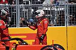 08.06.2019, Circuit Gilles Villeneuve, Montreal, FORMULA 1 GRAND PRIX DU CANADA, 07. - 09.06.2019<br /> , im Bild<br />Poleposition für Sebastian Vettel (GER#5), Scuderia Ferrari Mission Winnow, 2.Startplatz für Lewis Hamilton (GB#44), Mercedes-AMG Petronas Motorsport, 3.Startplstz für Charles Leclerc (MCO#16), Scuderia Ferrari Mission Winnow<br /> <br /> Foto © nordphoto / Bratic