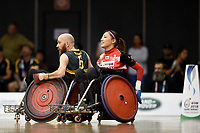 Michael Ozanne (AUS) vs Japan<br /> Australian Wheelchair Rugby Team<br /> 2018 IWRF WheelChair Rugby <br /> World Championship / Finals<br /> Sydney  NSW Australia<br /> Friday 10th August 2018<br /> &copy; Sport the library / Jeff Crow / APC