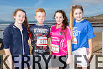 At the North Kerry's KDYS 'fittest Club'  Challenge at Ballyheigue beach  on Saturday were, Lorna Mulvihill, Aaron Sleman,Cianna Murphy  Grace Ryan from Moyvane Youthclub