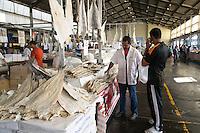 SAO PAULO, SP, 27 DE MARÇO DE 2013. OITAVA SANTA FEIRA DO PEIXE NA CEAGESP. Bacalhau  a venda na oitava santa feira do peixe que acontece no Patio do Pescado da  Ceagesp.  Esta feira acontece antes das festividades da semana santa e os clientes podem comprar vários tipos de peixes com preço de atacado. A feira acontece ate o dia 28 de março a partir das 14 horas. FOTO ADRIANA SPACA/BRAZIL PHOTO PRESS
