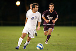 26 Sept 2006,  John DiRaimondo (8) of SLU looks for an open player as Kyle Windmueller (5) of MSU applies pressure.  The St. Louis University Billikens defeated the Missouri State University Bears by a score of 1-0 in a regular season conference match at Robert R. Hermann Stadium, St. Louis, Missouri.