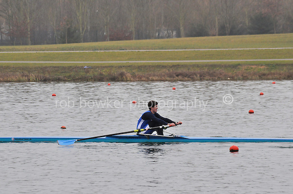 306 CanfordSch J16A.1x..Marlow Regatta Committee Thames Valley Trial Head. 1900m at Dorney Lake/Eton College Rowing Centre, Dorney, Buckinghamshire. Sunday 29 January 2012. Run over three divisions.