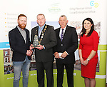WITH COMPLIMENTS.  Attending the  Entrepreneur of the Year 2016 in the  Limerick Final of the National Enterprise Awards at a ceremony in the Dunraven Arms Hotel, Adare were Cllr. Liam Galvin, Mayor of Limerick City and County Council who presented the Best Service Business award to Eric McNulty, McNulty&rsquo;s Fuels, Hospital, Co. Limerick. Also in the photograph are Eamon Ryan, Head of Enterprise, Local Enterprise Office Limerick and Ciara Finley, Local Enterprise Office Limerick.<br />Best Service Business - McNulty&rsquo;s Fuels is a Filling and Service Station located on the outskirts of Hospital in county Limerick. Founder, Eric McNulty, holds a Masters in Renewable Energy Planning, from the University of Dundee in Scotland. Having worked for two years in policy planning and development for the Scottish Government, Eric returned home to his native Hospital. When an opportunity arose to take over the local filling station in June 2014, he entered into a 12 month lease and opened his door for business. Since then the business has gone from strength to strength and has become an important part of the community, sponsoring local teams and events. Eric has since purchased the site and renovated the forecourt. The business prides itself on old style customer service &ndash; fully attended pumps, free home deliveries, free car checks and longer opening hours than competitors. McNulty&rsquo;s Fuels currently employ five local employees and plan to extend to three service stations across county Limerick by 2018.<br />Photograph Liam Burke/Press 22