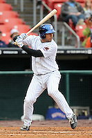 Buffalo Bisons third baseman Matt Tuiasosopo #7 during a game against the Pawtucket Red Sox at Coca-Cola Field on April 15, 2012 in Buffalo, New York.  Buffalo defeated Pawtucket 10-9 in ten innings.  (Mike Janes/Four Seam Images)