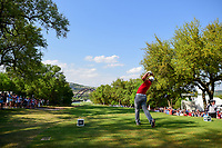 Jon Rahm (ESP) watches his tee shot on 12 during round 7 of the World Golf Championships, Dell Technologies Match Play, Austin Country Club, Austin, Texas, USA. 3/26/2017.<br /> Picture: Golffile | Ken Murray<br /> <br /> <br /> All photo usage must carry mandatory copyright credit (&copy; Golffile | Ken Murray)