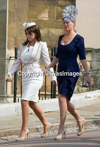 """PRINCESS EUGENIE AND SOPHIE, COUNTESS OF WESSEX_Identical Heels.Members of the Royal Family attended Easter Service at St. George's Chapel, Windsor Castle, Windsor_24/04/2011.Mandatory Photo Credit: ©Dias/DIASIMAGES..**ALL FEES PAYABLE TO: """"NEWSPIX INTERNATIONAL""""**..PHOTO CREDIT MANDATORY!!: DIASIMAGES(Failure to credit will incur a surcharge of 100% of reproduction fees)..IMMEDIATE CONFIRMATION OF USAGE REQUIRED:.DiasImages, 31a Chinnery Hill, Bishop's Stortford, ENGLAND CM23 3PS.Tel:+441279 324672  ; Fax: +441279656877.Mobile:  0777568 1153.e-mail: info@diasimages.com"""