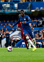 Fikayo Tomori of Chelsea during the Premier League match between Chelsea and Liverpool at Stamford Bridge, London, England on 22 September 2019. Photo by Liam McAvoy / PRiME Media Images.