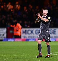 Lincoln City's Michael O'Connor applauds the fans at the final whistle<br /> <br /> Photographer Andrew Vaughan/CameraSport<br /> <br /> The EFL Sky Bet League Two - Cambridge United v Lincoln City - Saturday 29th December 2018  - Abbey Stadium - Cambridge<br /> <br /> World Copyright © 2018 CameraSport. All rights reserved. 43 Linden Ave. Countesthorpe. Leicester. England. LE8 5PG - Tel: +44 (0) 116 277 4147 - admin@camerasport.com - www.camerasport.com