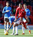03.03.2019 Aberdeen v Rangers: Alfredo Morelos and Max Lowe