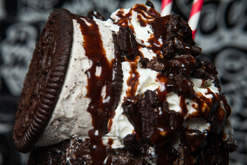 The Cookies and Cream Supreme from the menu of trucks that will rove the city streets this summer serving milkshakes. A third truck is in progress with plans to be stationed in the Hamptons.<br /> <br /> Danny Ghitis for The New York Times