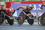 RIO DE JANEIRO - 12/9/2016:  Alexandre Dupont competes in the Men's 1500m - T54 Heat at the Olympic Stadium during the Rio 2016 Paralympic Games in Rio de Janeiro, Brazil. (Photo by Matthew Murnaghan/Canadian Paralympic Committee