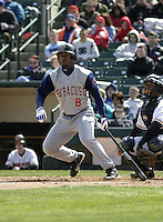 April 10, 2004:  Jorge Sequea of the Syracuse Sky Chiefs, Class-AAA International League affiliate of the Toronto Blue Jays, during a game at Frontier Field in Rochester, NY.  Photo by:  Mike Janes/Four Seam Images