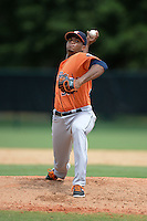 Houston Astros pitcher Joshua James (37) during an Instructional League game against the Atlanta Braves on September 22, 2014 at the ESPN Wide World of Sports Complex in Kissimmee, Florida.  (Mike Janes/Four Seam Images)