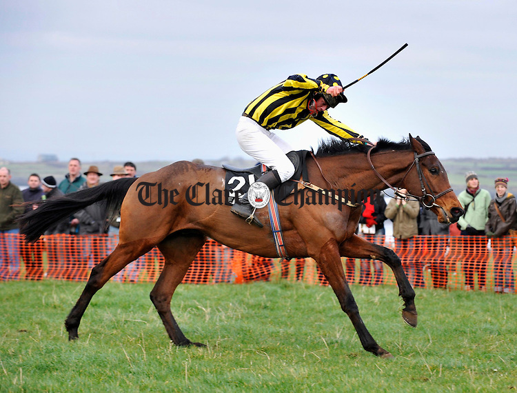 """Hows the Form"" comes in to win at the Point to Point in Bellharbour. Photograph by John Kelly."